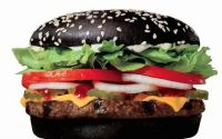 Black Bun Whopper from Burger King