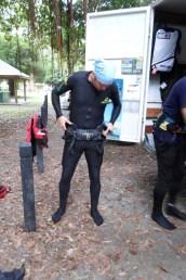 Stinger suit, harness, life vest...all good!