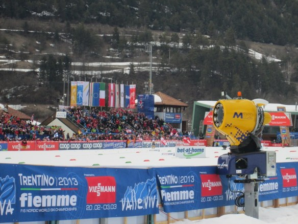 Nordic Combined Individual Large Hill World Championship Finish