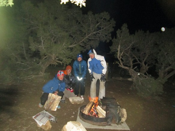 Cold Camping with Fire