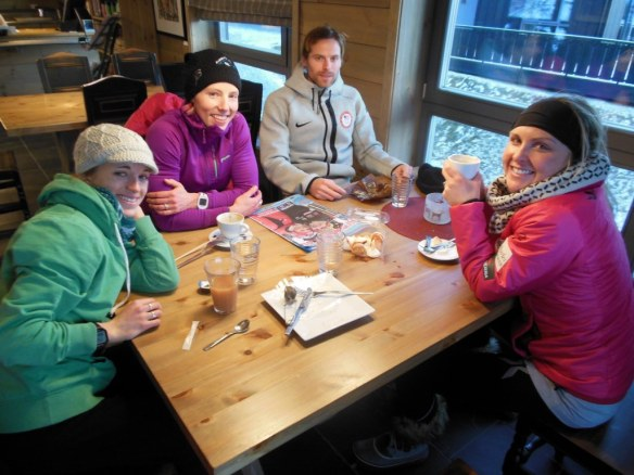 Small US Ski Team Group Coffee Trip