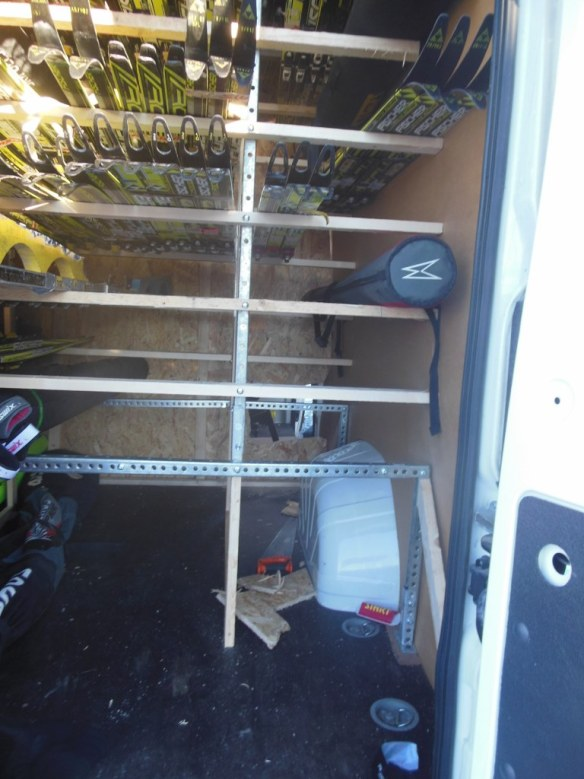 Racks in the Way of Cargo Van Divider