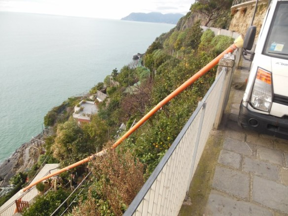 Creative Construction Work in Riomaggiore, Italy