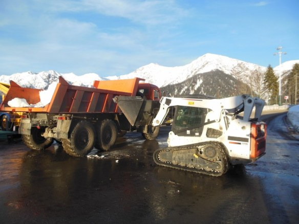 Snow Removal from Sochi Olympic Village