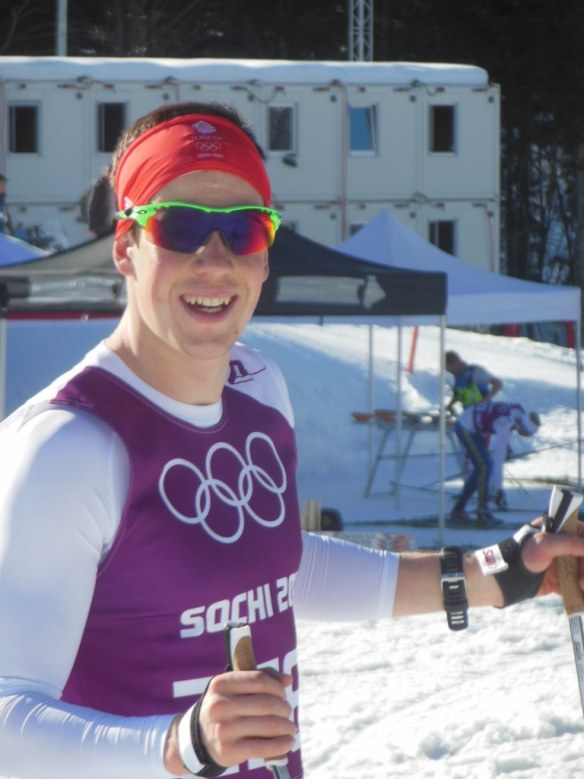 Andrew Musgrave in Sochi Olympics Russia