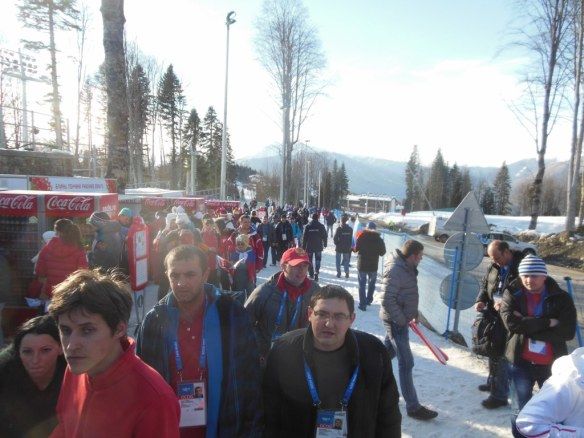Crowds Heading to Olympic Biathlon Race