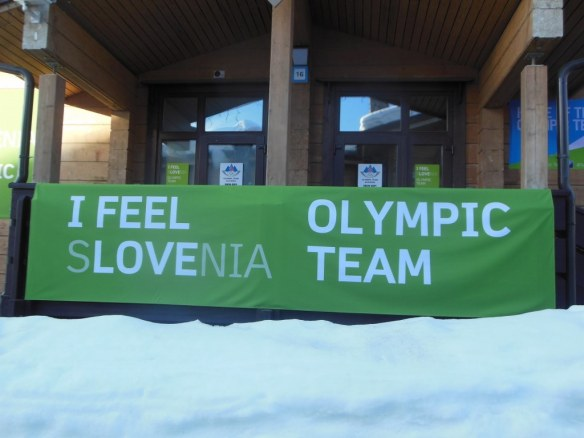 Slovenian Olympic Housing Banner