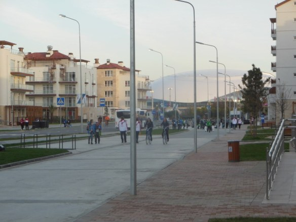 Warm Temperatures in Sochi 2014 Olympic Coastal Village