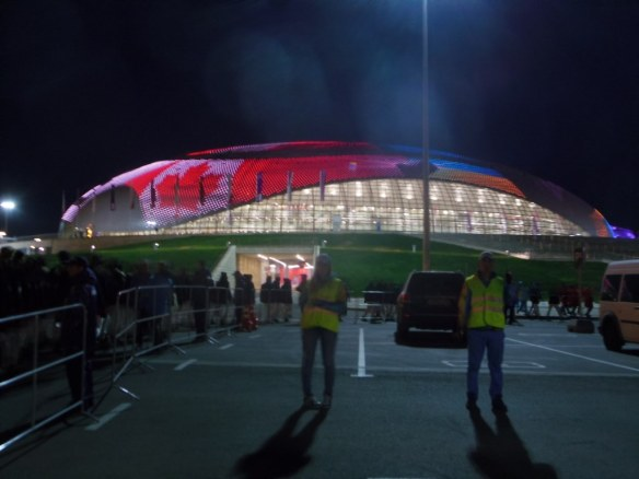 Hockey Score on Roof of Sochi 2014 Arena
