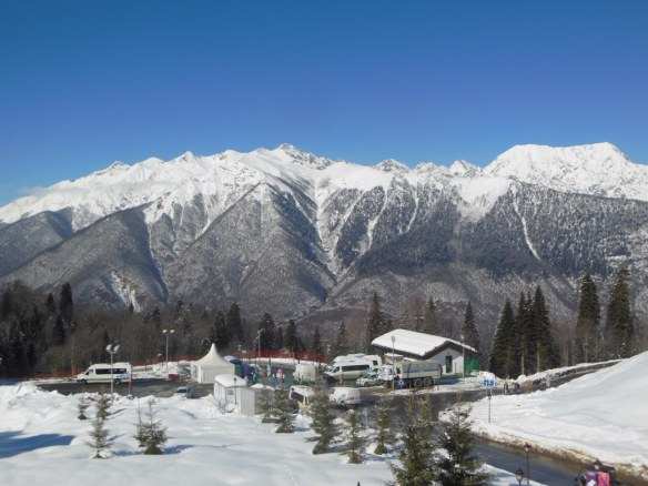 Caucasus Mountains from Sochi Olympic Village