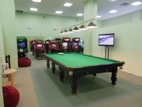 Pool Table in Olympic Game Room