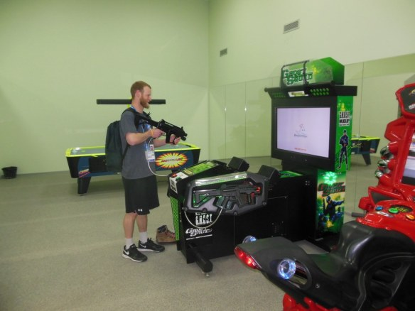 Michael Naperalsky in Olympic Arcade Room