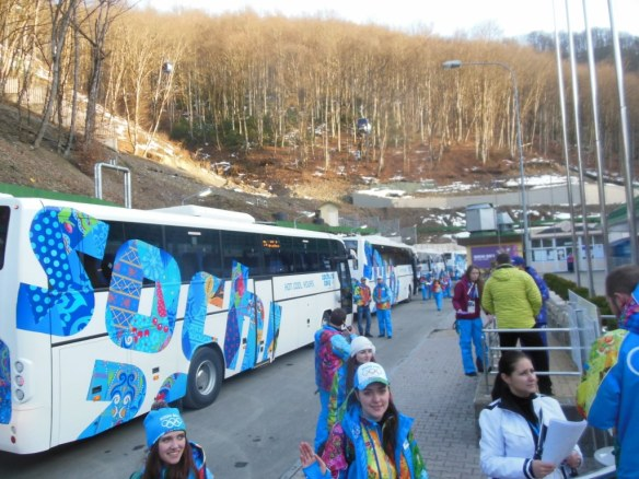 Waiting Buses for Olympic Opening Ceremonies