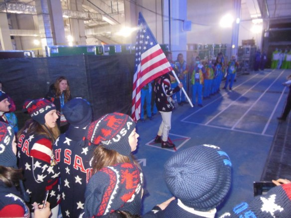 Todd Lodwick as US Olympic Flag Bearer