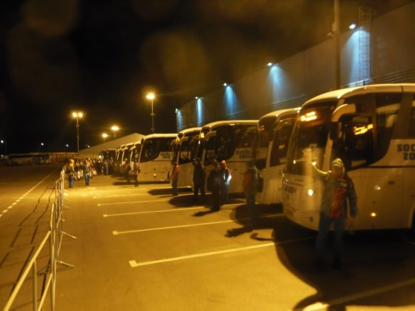 Buses at Sochi 2014 Opening Ceremonies