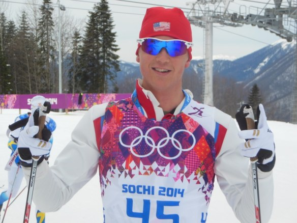 Erik Bjornsen Before Olympic Skiathlon Sochi