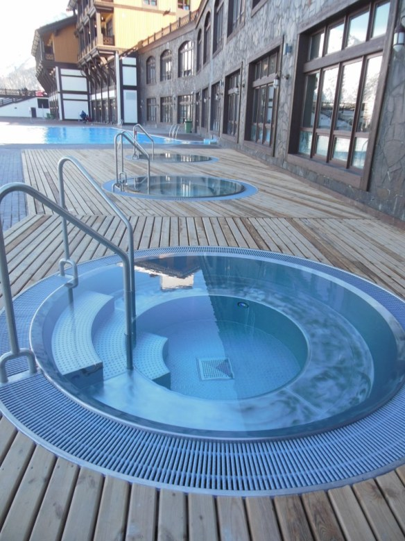 Outdoor Small Pools in Sochi Olympic Endurance Village