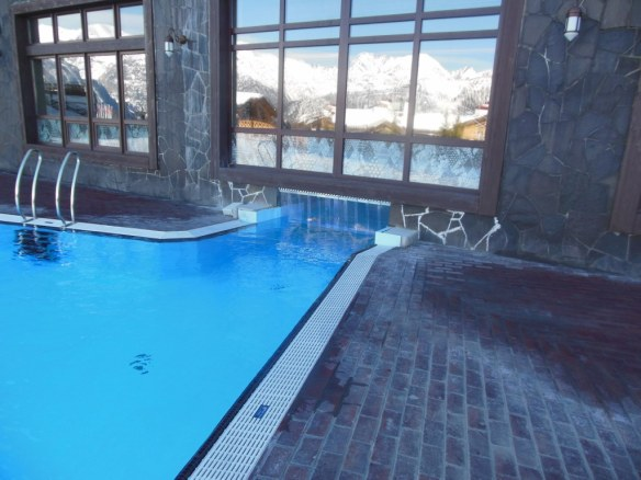 Indoor to Outdoor Pool Connection at Sochi Olympic Venue