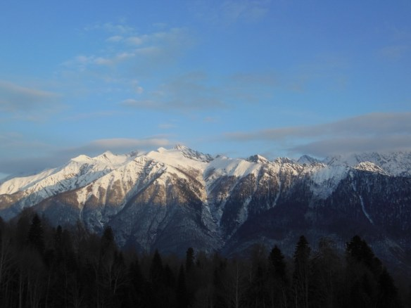 Bright and Beautiful Day from Sochi Olympic Endurance Village