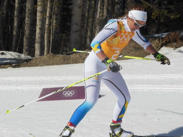 Anna Haag Holding Tough in Olympic Women's Relay