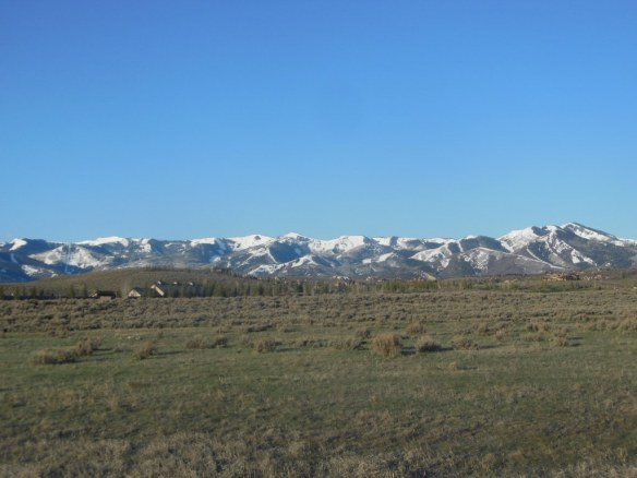 Mountains with Fresh Snow in Park City, Utah