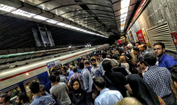 The crowded metro
