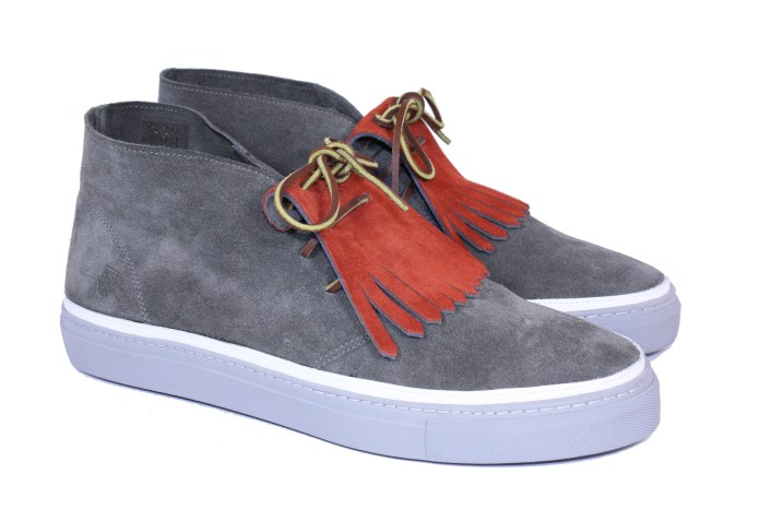 noah waxman American luxury shoemaker kiltie suede sneaker natural leather
