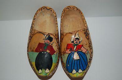 Antiquated Dutch clogs