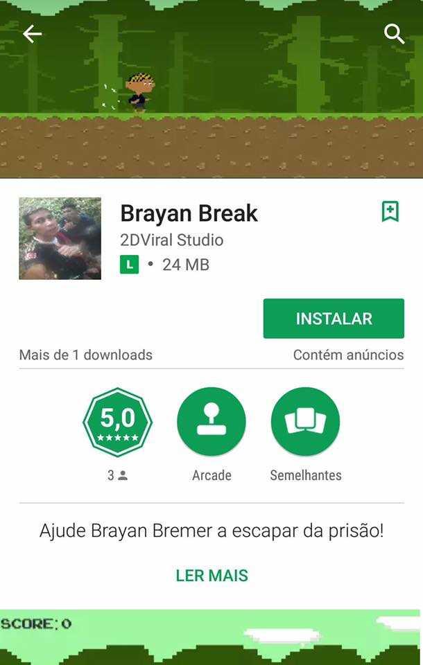 Game Brayan Break - Reprodução Google Play