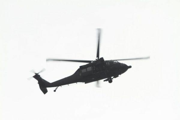 Helicóptero dando cobertura durante a revista na Cadeia Pública Vidal Pessoa / Divulgação
