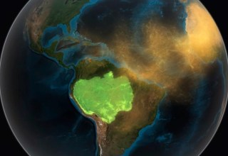 Poeira são lançadas do Saara para a Amazônia