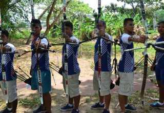 Indígenas do Amazonas ganharam visibilidade no esporte através do tiro com arco. Foto: Mauro Neto/Sejel-AM