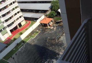Explosão de fossa causa desmoronamento e deixa feridos em condomínio de luxo : Imagem de Divulgação