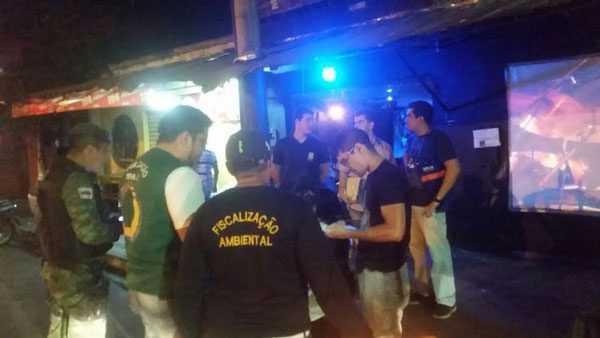 Agentes da Semmas e policiais Civis atuam estabelecimentos irregulares/Foto: Divulgação