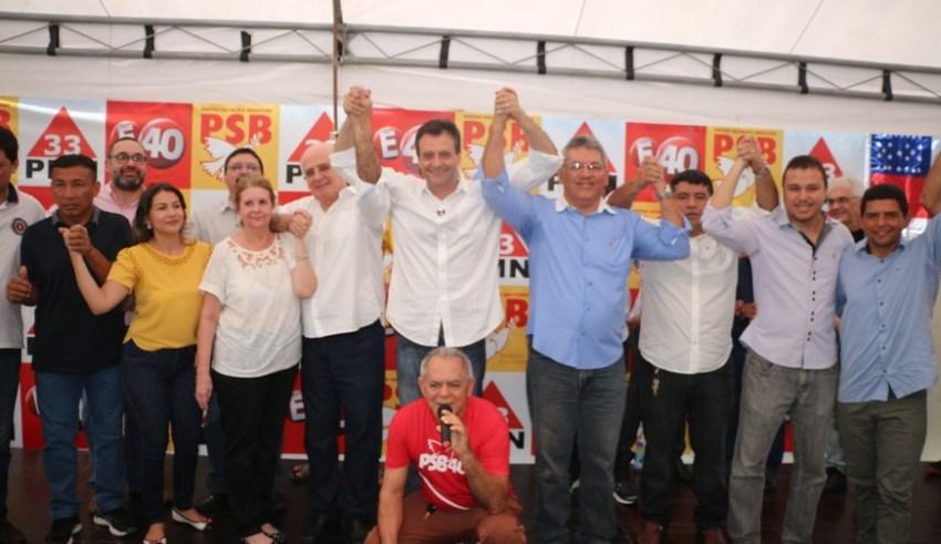 Marcelo Serafim oficializa campanha para governo do AM com Sirlam Cohen / (Foto: Adriane Oliveira/Assessoria de comunicação)