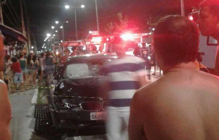 O BMW ficou completamente destruido- Imagem de divulgação