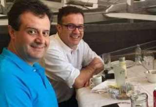Chico Preto e Marcelo durante almoço para tratar sobre alianças. Foto: Reprodução