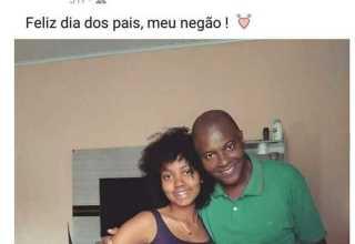 Anna Victoria postou foto com o pai no mesmo dia em que foi morta por ele, em Guaraci (Foto: Reprodução/Facebook)