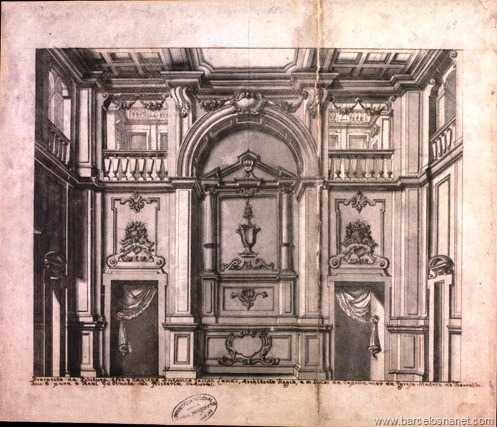 Prospecto da pintura que fez o capitão Antônio José Landi, arquiteto régio, dos lados da capela-mor da Igreja Matriz de Barcelos. Deu-o para o Real Gabinete de História Natural.