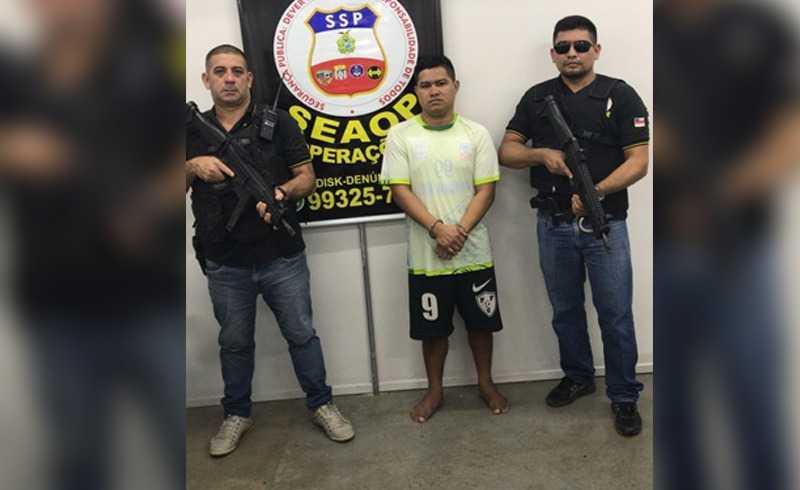 Foragido do Compaj é recapturado após pular do 3º andar de um prédio em Manaus - Imagem: Via Whatsapp