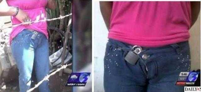 Uma mexicana de 25 anos usou durante 12 anos um cadeado nas calças como forma de cinto de castidade.  / Divulgação