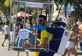 A NASA tem que estudar o brasileiro fantasiado de brasileiro sendo estudado pela NASA