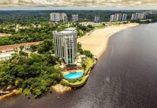 Vista aérea da Ponta Negra em Manaus / Foto : Divulgação