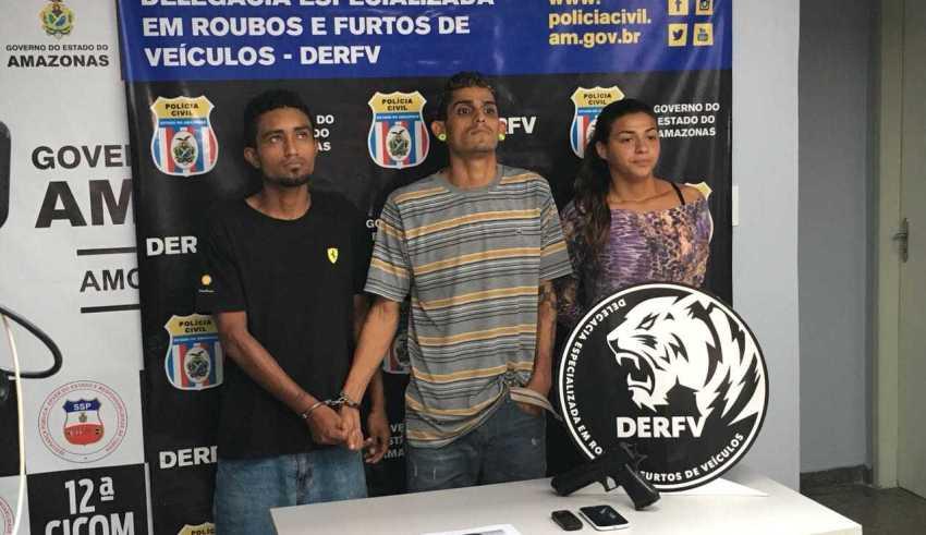 Bando é preso suspeito de roubar motoristas de Uber em Manaus - Imagem: Divulgação