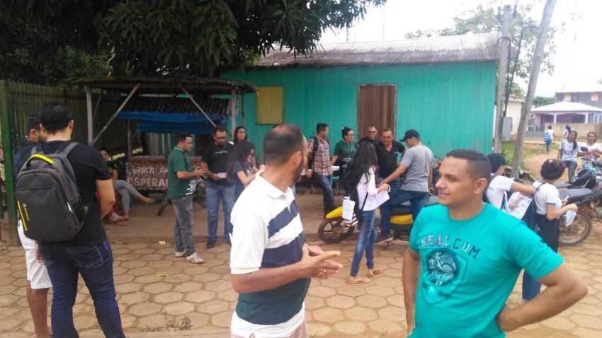 Professores de Pauini aderem a paralisação estadual  / Foto : Romário Vieira