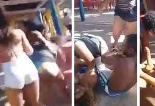 Mulher flagra ex com namorada na praia e é presa após surrá-la
