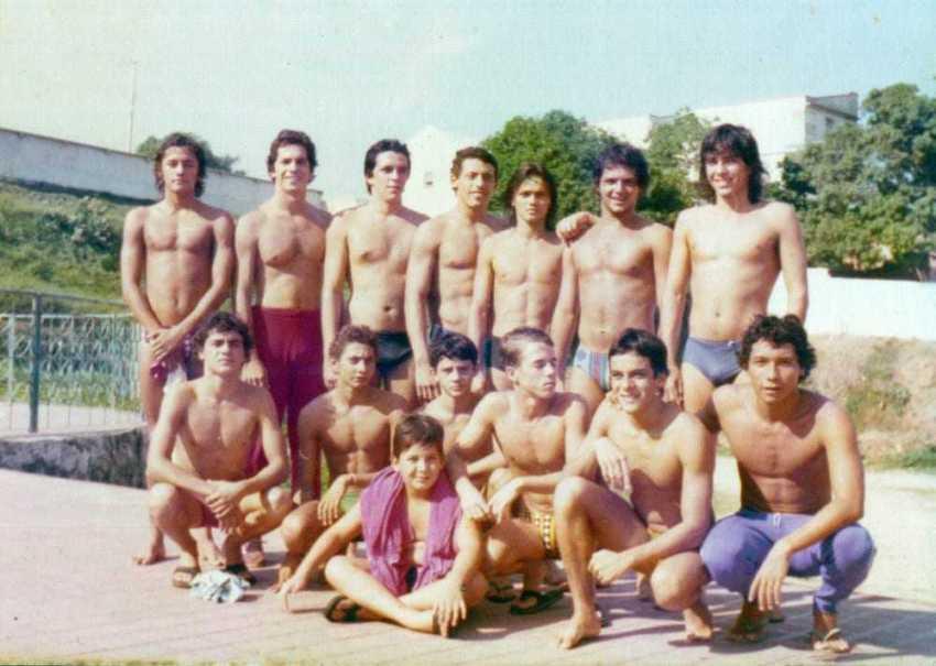 A famosa Turma dos Peixes do Olímpico Clube / Foto : Coleção Edlucio De Castro Alves