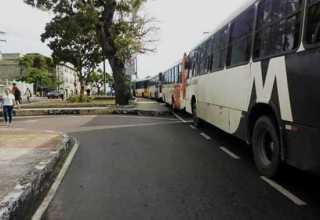 Rodoviários do transporte coletivo de Manaus paralisam atividades no T1, nesta quarta-feira - Imagem: Via Whatsapp