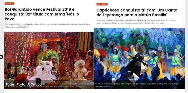 ERRAMOS: A Crítica esclarece matéria sobre 'resultado' do Festival de Parintins