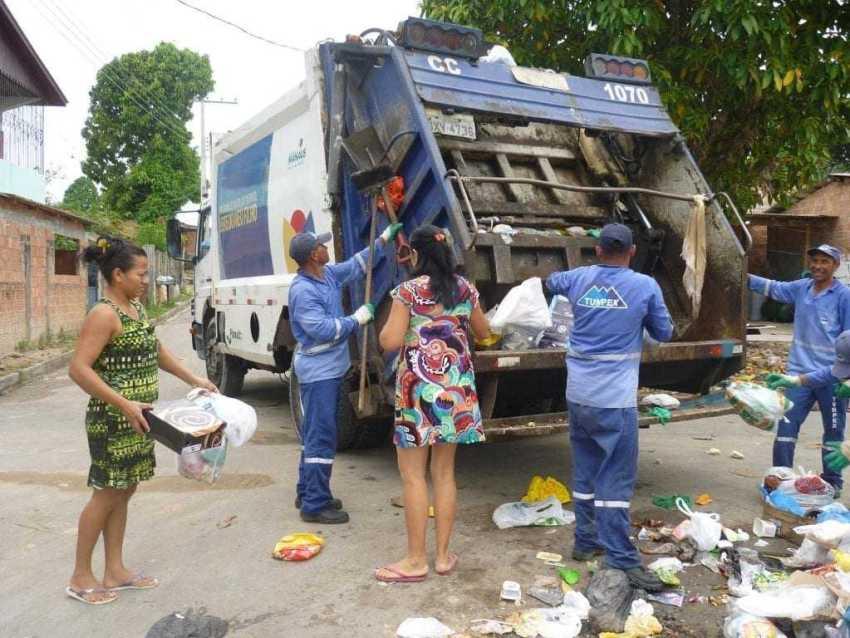 Coleta de Lixo em Manaus / Foto : Divulgação